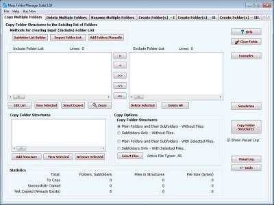 Mass Folder Manager Suite 8.20 screenshot