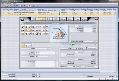 MassCalc professional 7.0 screenshot