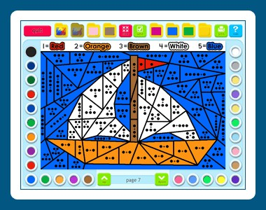 Math Coloring Book: Grade 1 1.00.75 screenshot