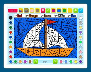 Math Coloring Book: Grade 1 1.00.25 screenshot