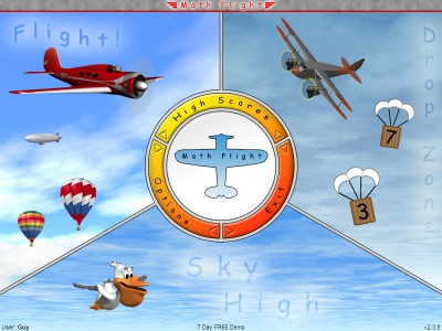 Math Flight 2.3 screenshot