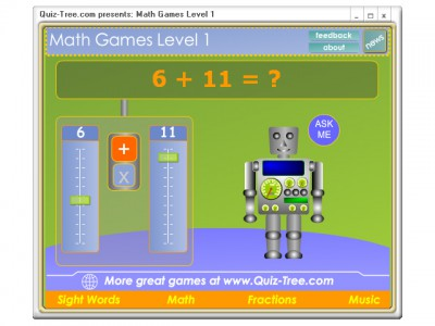 Math Games Level 1 1.0 screenshot