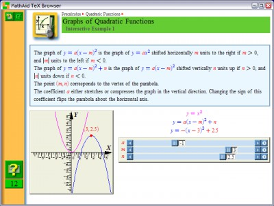 MathAid Precalculus 28.63 screenshot