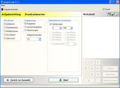 Mathe Freak 1.51 screenshot