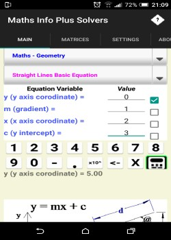 Maths Info And Solvers free 1.4 screenshot