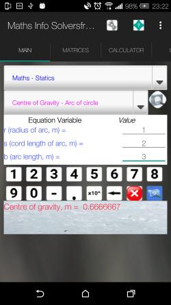 Maths Info And Solvers 1.8 screenshot