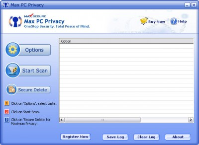 Max PC Privacy 6.11 screenshot