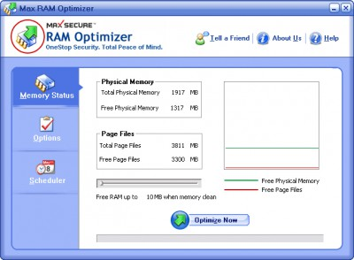 Max RAM Optimizer 1.0.0.6 screenshot
