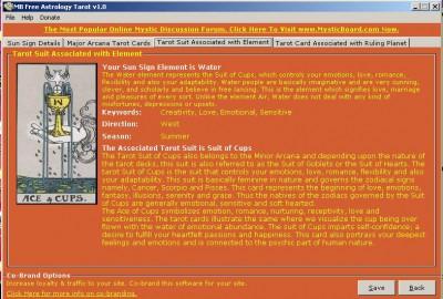 MB Astrology Tarot 1.75 screenshot