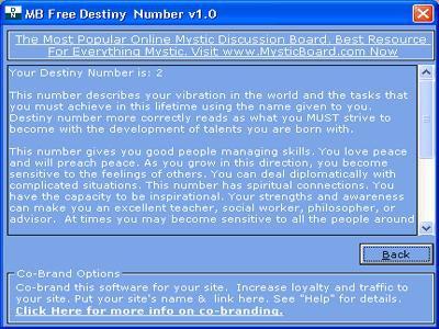MB Destiny Number 1.75 screenshot