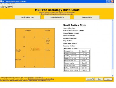 MB Free Astrology Birth Chart 1.30 screenshot