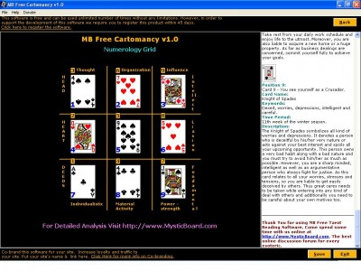 MB Free Cartomancy 1.20 screenshot