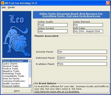 MB Free Leo Astrology 1.10 screenshot