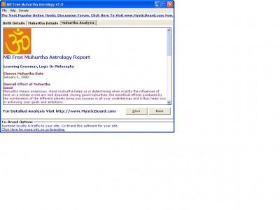 MB Free Muhurtha Astrology 1.30 screenshot