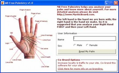 MB Free Palmistry 1.70 screenshot