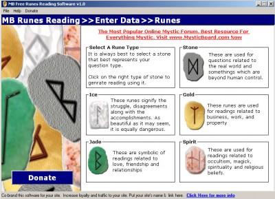MB Free Runes Reading Software 1.25 screenshot