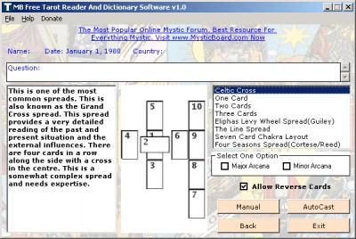 MB Free Tarot Reader And Dictionary 1.30 screenshot