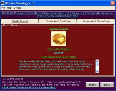 MB Gemology 2.05 screenshot