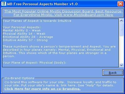 MB Personal Aspects Number 1.45 screenshot