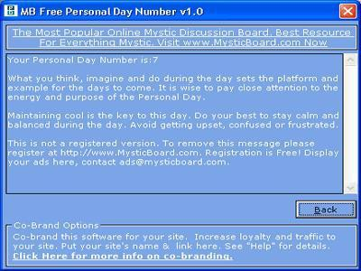 MB Personal Day Number 1.75 screenshot