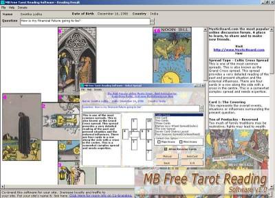 MB Tarot Reading Software 1.55 screenshot