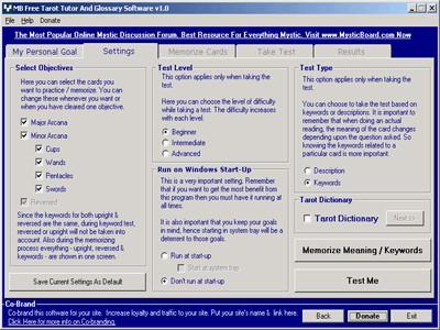 MB Tarot Tutor And Glossary 1.55 screenshot
