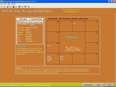 MB Vedic Astrology Divisional Charts 1.65 screenshot