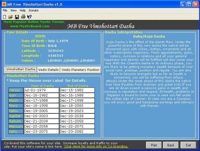 MB Vimshottari Dasha 1.60 screenshot