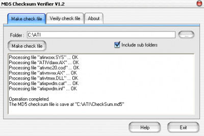 MD5 Checksum Verifier 6.0 screenshot