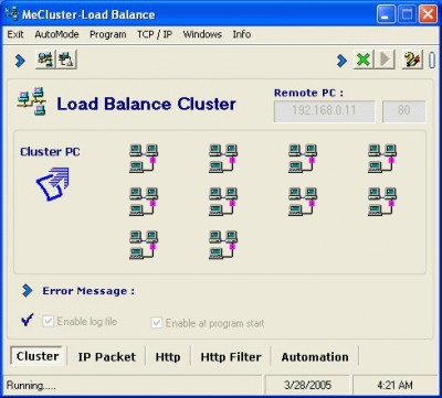 ME Cluster - Load Balance 8.1 screenshot