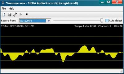 MEDA Audio Recorder 1.5 screenshot