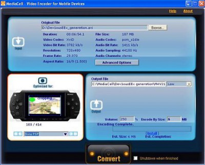 MediaCell Video Converter 2.3 screenshot
