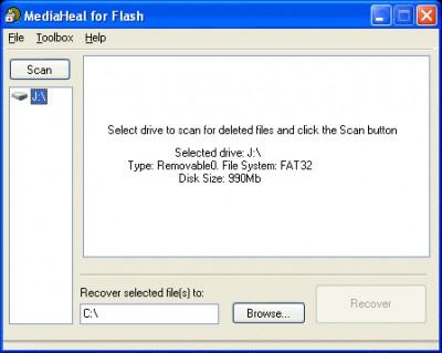 MediaHeal for Flash 1.0.0909 screenshot