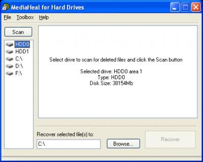 MediaHeal for Hard Drives 1.0.0910 screenshot