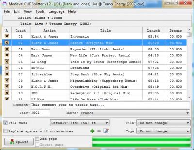 Medieval CUE Splitter 1.2 screenshot