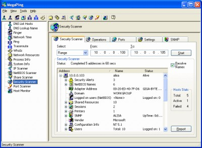 MegaPing 4.9.0.2 screenshot