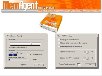 MemAgent Memory Optimizer 2006 screenshot