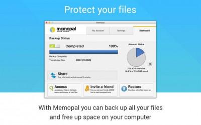 Memopal Online Backup 4.0.0.3826 screenshot