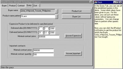 Memory Database System Demo 1.0 screenshot