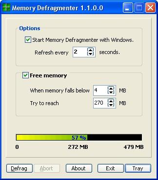 Memory Defragmenter 1.1 screenshot