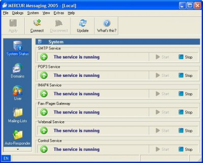MERCUR Messaging 2005 screenshot