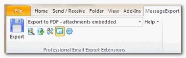 MessageExport for Outlook 3.6.3 screenshot