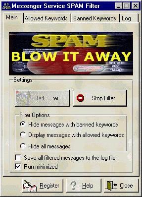 Messenger Service SPAM Filter 1.0 screenshot
