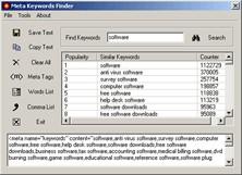 Meta Keywords Finder 1.2 screenshot