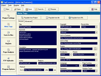 Meta Tag Promoter 1.1 screenshot