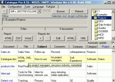 MetaDataMiner Catalogue PRO 4.2.26 screenshot