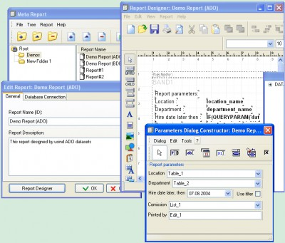 MetaReport Developer Kit 2.9.3 screenshot