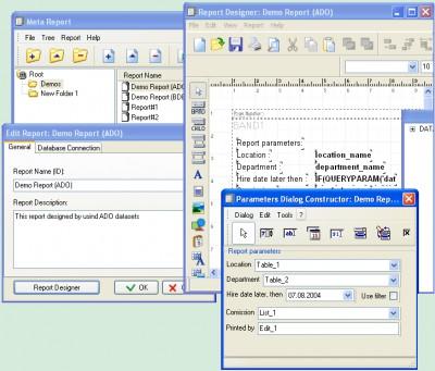 MetaReport Developer Kit 2.9.3 screenshot