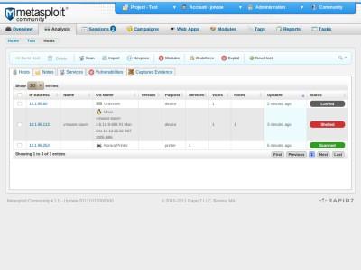 Metasploit 4.1.4 screenshot