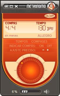 Metronomo de Guitar-Online 2.0 screenshot